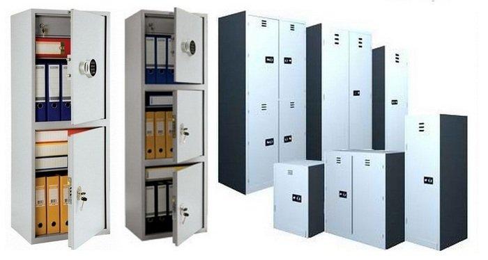 Металлический шкаф с замком