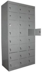 Шкаф на 24 ячейки с дверцами ШР 83