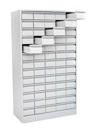 Шкаф на 65 отделений выдвижными ящиками