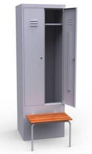 Шкаф с откидной скамьей ШР 22 600 ОСК