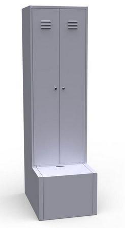 Шкаф с металлической тумбой для обуви ШР 22 600Т
