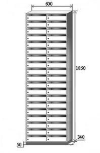 Шкаф абонентский АШ(38)