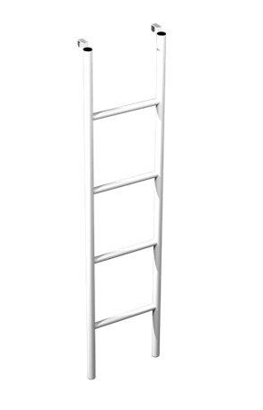 Лестница к металлической кровати