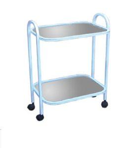 Медицинский стол-тележка с двумя полками