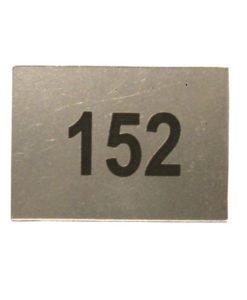 Шильдик с нумерацией квартиры
