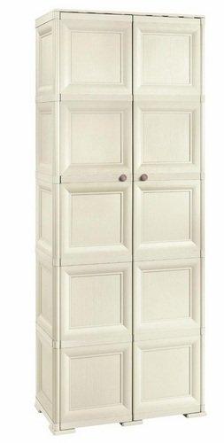 Шкаф пластиковый двухсекционный с четырьмя полками