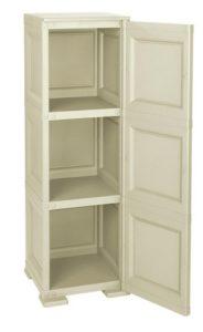 Шкаф пластиковый односекционный с двумя полками