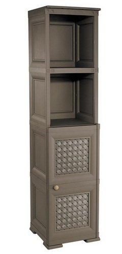 Шкаф пластиковый односекционный с тремя полками