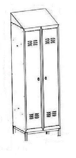 Шкаф ШР 22 600 со скошенной крышей на подставке