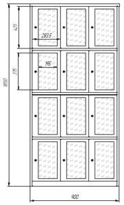 Шкаф сумочный со стеклянными дверцами: купить в Москве по цене 49 000 руб | Интернет-магазин «Мебель Металлическая»