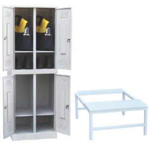 Шкаф двухъярусный со скамьей ШР 24 600