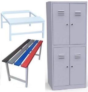 Шкаф двухъярусный со скамьей ШР 24 800