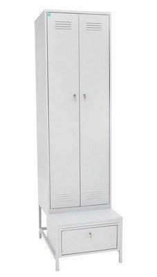 Шкаф для одежды на подставке с ящиком