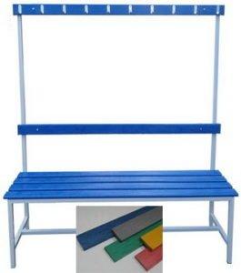 Скамья для бассейна со спинкой и вешалкой