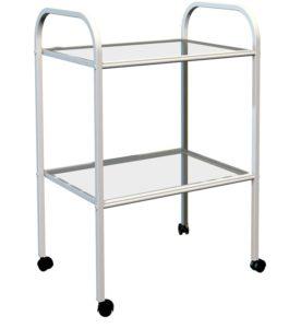 Медицинский стол-тележка с двумя полками: купить в Москве по цене 4 150 руб | Интернет-магазин «Мебель Металлическая»