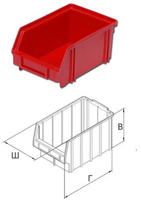 Пластиковый ящик 170*105*75 мм