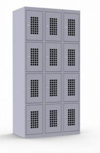 Сумочный перфорированный шкаф трехсекционный: купить в Москве по цене 24 500 руб   Интернет-магазин «Мебель Металлическая»