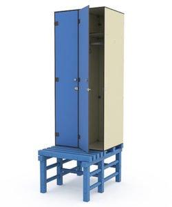Шкаф 2-1 + скамья-подставка: купить в Москве по цене 33 522 руб | Интернет-магазин «Мебель Металлическая»