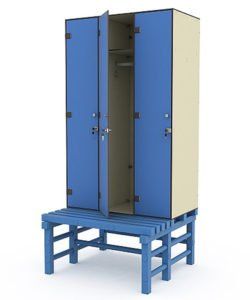 Шкаф 3-1 + скамья-подставка: купить в Москве по цене 46 730 руб | Интернет-магазин «Мебель Металлическая»