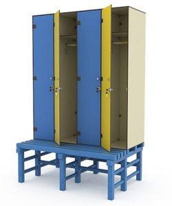 Шкаф 4-1 + скамья-подставка: купить в Москве по цене 60 911 руб | Интернет-магазин «Мебель Металлическая»