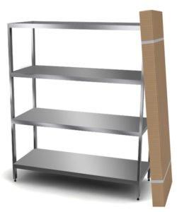 Стеллажи из нержавейки разборные AISI 430: купить в Москве по цене 9 500 руб | Интернет-магазин «Мебель Металлическая»