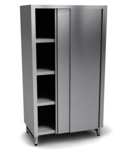 Шкаф из стали AISI 430 (двери-купе): купить в Москве по цене 57 000 руб | Интернет-магазин «Мебель Металлическая»