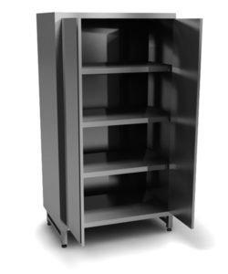 Шкаф из стали AISI 430 (распашные двери): купить в Москве по цене 26 200 руб | Интернет-магазин «Мебель Металлическая»
