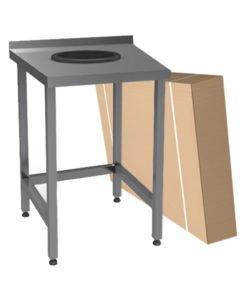 Стол для сбора отходов (разборный): купить в Москве по цене 10 600 руб | Интернет-магазин «Мебель Металлическая»