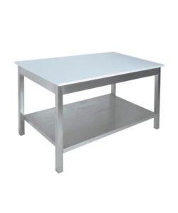 Стол со столешницей из полипропилена (AISI 304, полка): купить в Москве по цене 17 900 руб   Интернет-магазин «Мебель Металлическая»