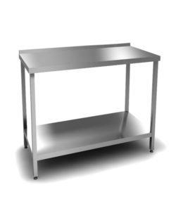 Стол производственный (AISI 430, полка): купить в Москве по цене 7 300 руб | Интернет-магазин «Мебель Металлическая»
