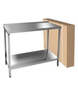 Стол разборный производственный (AISI 430, полка): купить в Москве по цене 8 000 руб   Интернет-магазин «Мебель Металлическая»