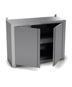 Полка настенная закрытая (распашные дверцы): купить в Москве по цене 10 400 руб | Интернет-магазин «Мебель Металлическая»