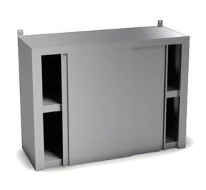 Полка настенная закрытая (двери-купе): купить в Москве по цене 17 000 руб | Интернет-магазин «Мебель Металлическая»