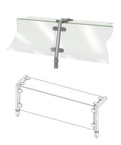 Полка стеклянная с держателями: купить в Москве по цене 17 900 руб | Интернет-магазин «Мебель Металлическая»