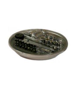 Поднос магнитный круглый Ф145 с набором инструмента: купить в Москве по цене 1 000 руб   Интернет-магазин «Мебель Металлическая»