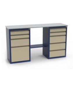 Стол-верстак ЛВ-2Т.04.05: купить в Москве по цене 17 553 руб | Интернет-магазин «Мебель Металлическая»
