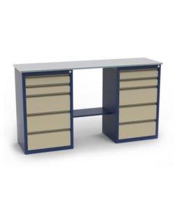 Стол-верстак ЛВ-2Т.05.05: купить в Москве по цене 18 355 руб | Интернет-магазин «Мебель Металлическая»