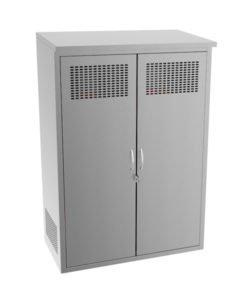 Шкаф из нержавейки для газовых баллонов: купить в Москве по цене 39 000 руб | Интернет-магазин «Мебель Металлическая»
