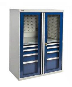 Шкаф ВС-053 с дверьми-окнами: купить в Москве по цене 27 480 руб | Интернет-магазин «Мебель Металлическая»