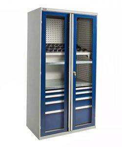 Шкаф ВС-055 с дверьми-окнами: купить в Москве по цене 63 600 руб | Интернет-магазин «Мебель Металлическая»