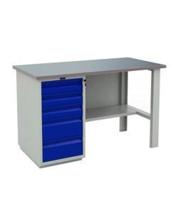 Верстак PROFI WT140.WD5/F1.000: купить в Москве по цене 34 000 руб   Интернет-магазин «Мебель Металлическая»