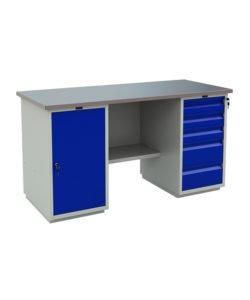 Верстак PROFI WT160.WD1/WD5.000: купить в Москве по цене 41 000 руб   Интернет-магазин «Мебель Металлическая»