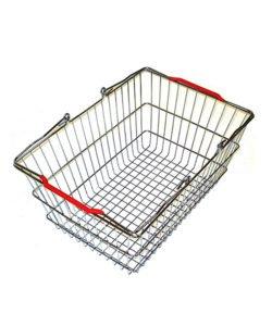 Корзина покупательская из металла SB20-ZN: купить в Москве по цене 345 руб | Интернет-магазин «Мебель Металлическая»