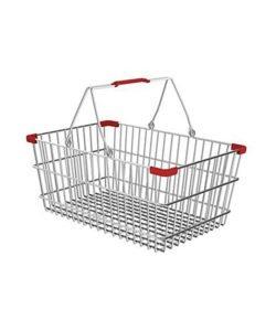 Корзина покупательская из металла SB22-CR: купить в Москве по цене 438 руб | Интернет-магазин «Мебель Металлическая»
