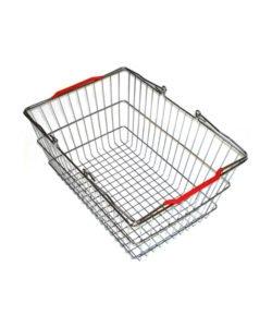 Корзина покупательская из металла SB22-ZN: купить в Москве по цене 384 руб | Интернет-магазин «Мебель Металлическая»