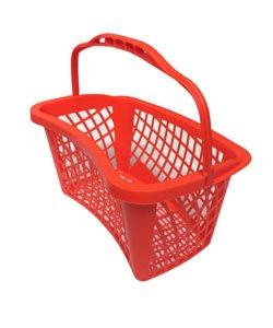 Корзина покупательская из пластика SBP27-SLIM: купить в Москве по цене 456 руб | Интернет-магазин «Мебель Металлическая»