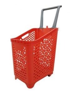 Корзина-тележка пластиковая на колесах НРВ65: купить в Москве по цене 2 190 руб | Интернет-магазин «Мебель Металлическая»