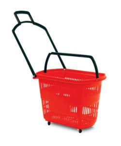 Корзина-тележка пластиковая на колесах РВТ30: купить в Москве по цене 921 руб | Интернет-магазин «Мебель Металлическая»