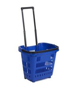 Корзина-тележка пластиковая на колесах РВТ34: купить в Москве по цене 1 436 руб | Интернет-магазин «Мебель Металлическая»