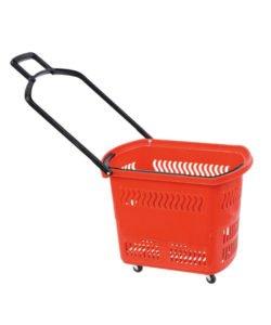Корзина-тележка пластиковая на колесах РВТ45: купить в Москве по цене 1 436 руб | Интернет-магазин «Мебель Металлическая»